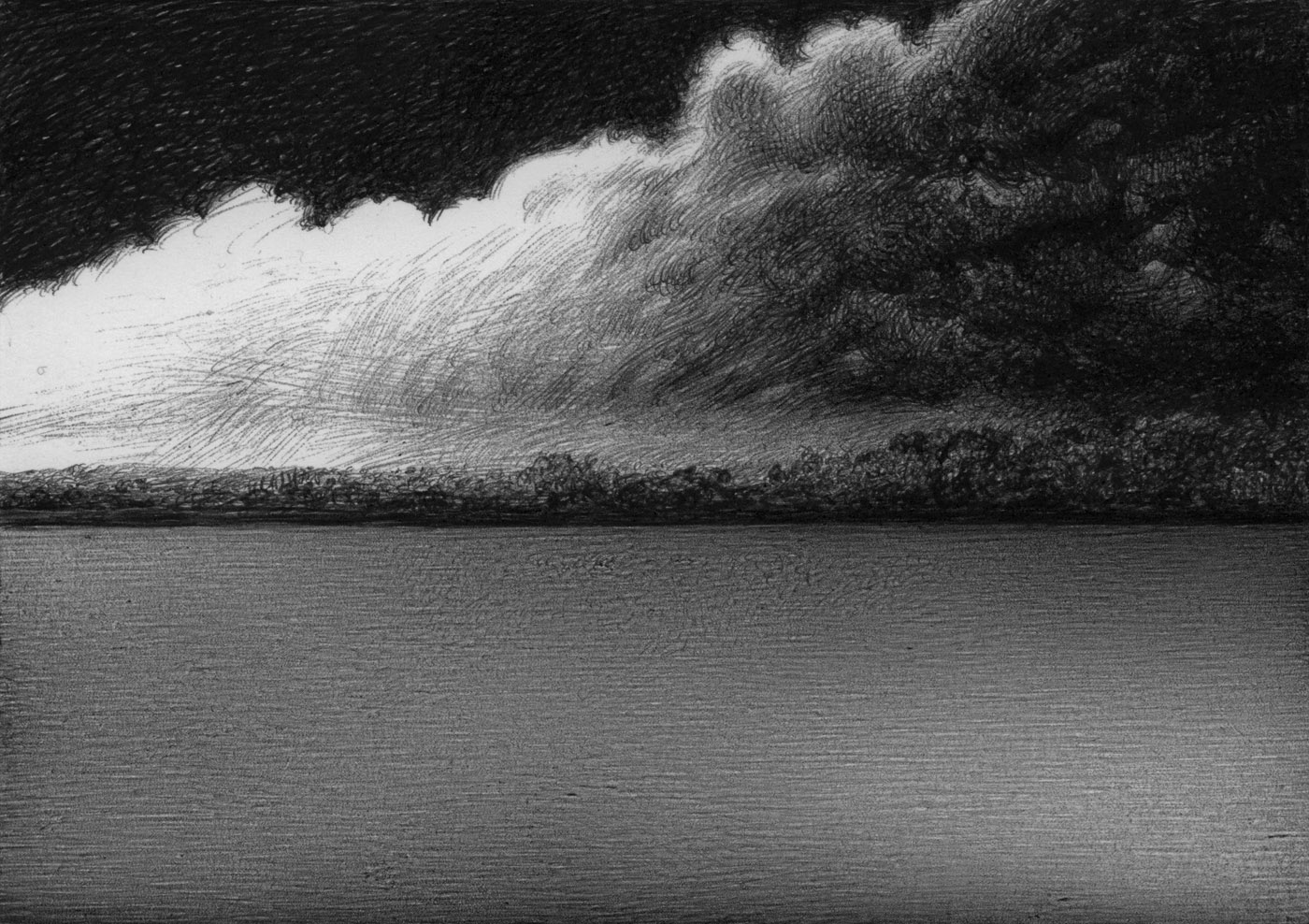 Ominous Clouds on the Lake #152