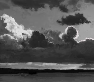 Digital Landscape in Black and White #1