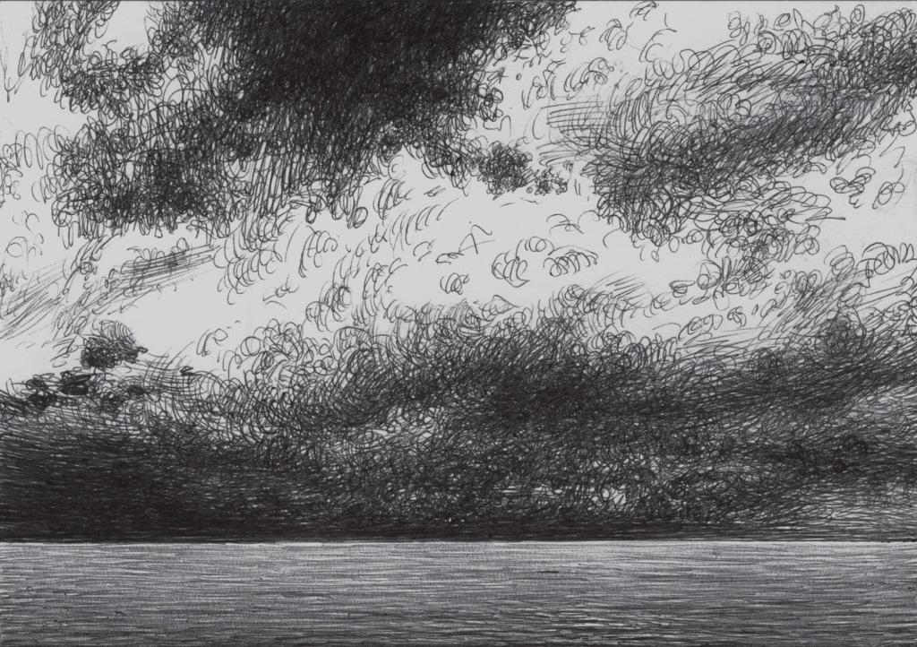 Nuvole da temporale all'orrizzonte in Agosto