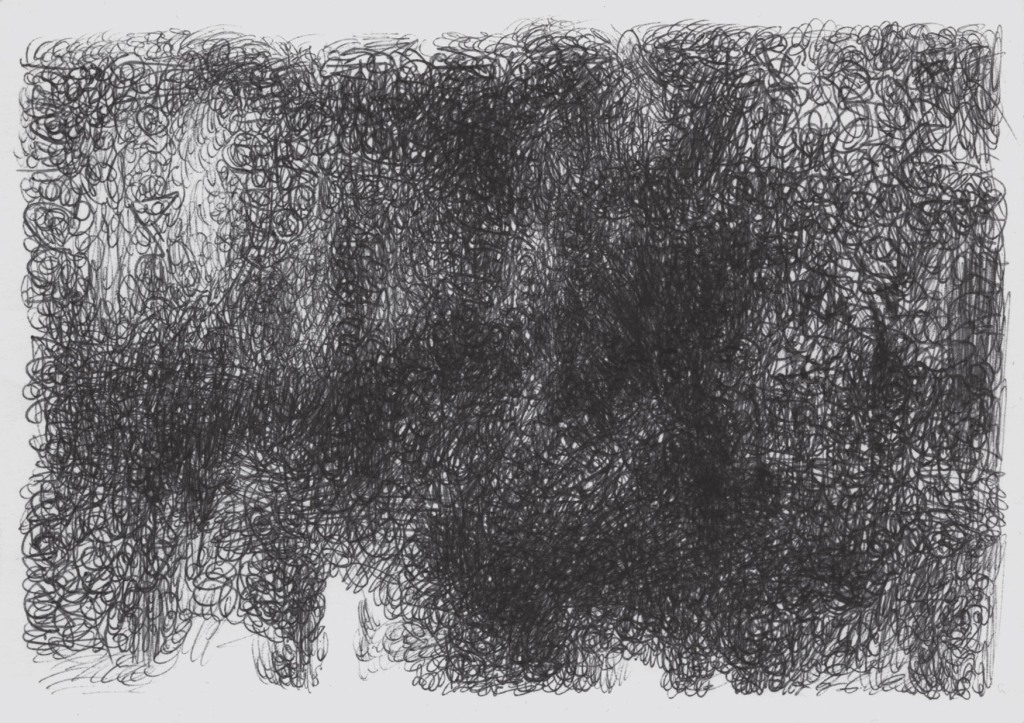 Wood in ancient english similar to italian selva. Word used in a Dante's Inferno to denifite the forest more wild. Cross hatching to define a drawing where le outline show an intricate forest